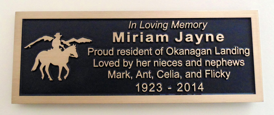 Memorial Plaques Vernon Bc Kelowna And The Okanagan